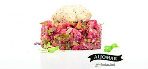 Jamones-Aljomar_Arrabal_recetario_steak tartar pluma ibérica.