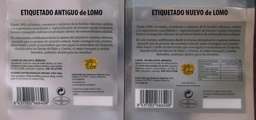 nuevo etiquetado productos ibéricos Aljomar