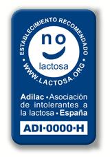 sello hostelería lactosa